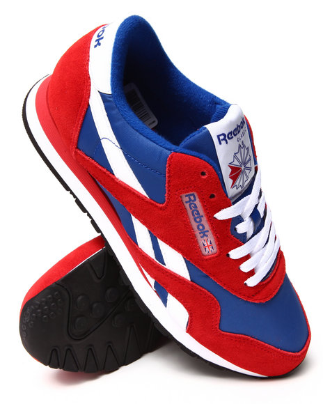 Reebok - Men Red Classic Nylon R13 Sneakers