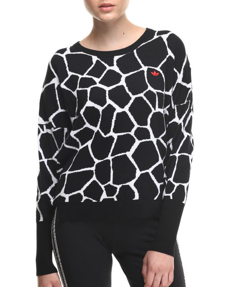 Adidas Animal Print,Black Graffe Knit Sweater