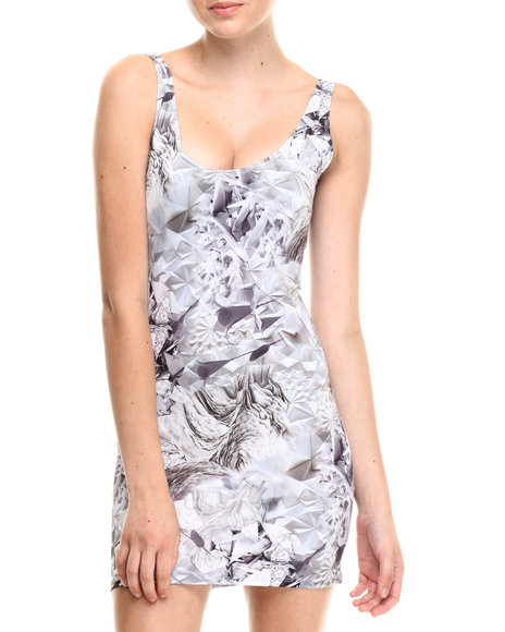 Walking Candy - Women White Shine Bright Sublimated Mini Dress