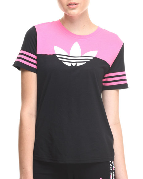 Adidas Black,Pink Sport Graphic Top