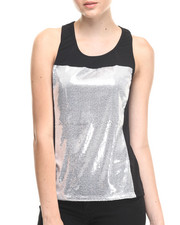 Women - White Noise Shiny Top
