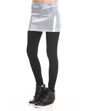 Women - White Noise Mini Skirt W/ Leggings