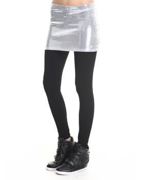 Walking Candy - White Noise Mini Skirt W/ Leggings