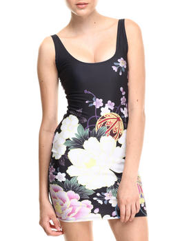 Walking Candy - China Flower Sublimated Mini Dress