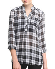 ALI & KRIS - Plaid Chiffon Shirt