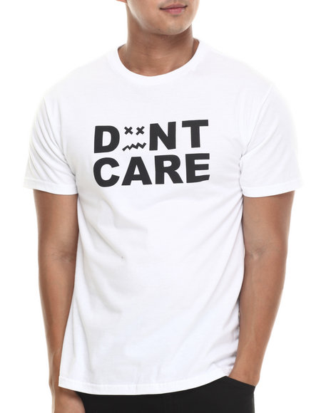 Don't Care White Standard Don't Care Tee