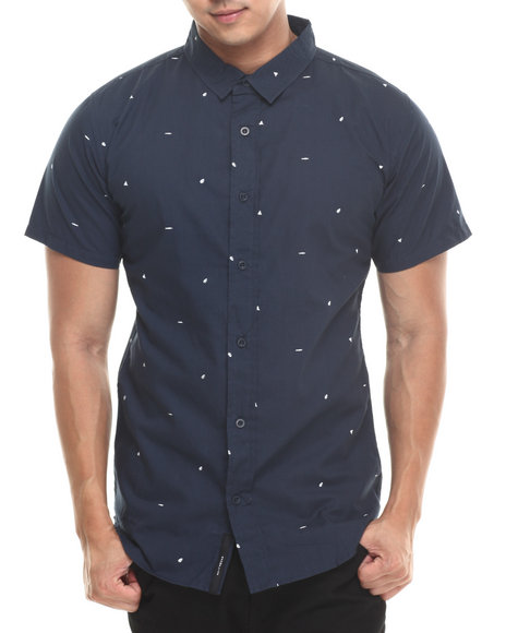 Akomplice Navy Scribbles S/S Button-Down