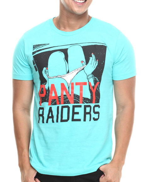 Panty Raiders - Men Green Panty Raiders Pull Down S/S Tee - $26.99