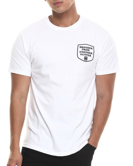 Don't Care - Men White Brother Gutter Tee - $19.99