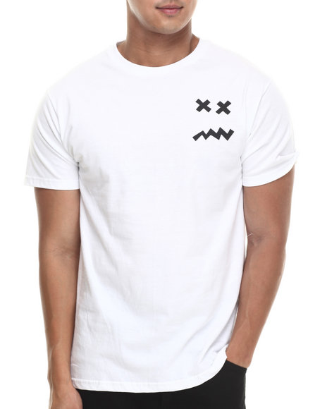 Don't Care White Standard Guy Tee