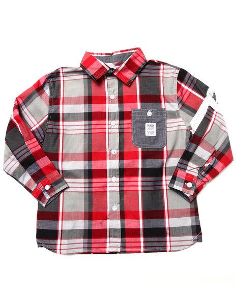 Parish - Boys Multi Plaid Woven Shirt (4-7)