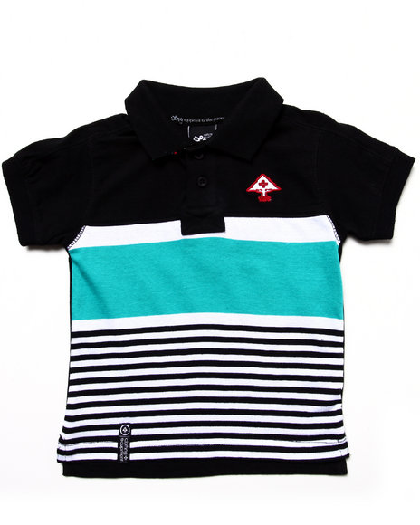 LRG Boys Black Stay Lifted Polo (Infant)