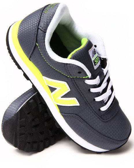 New Balance Boys Grey 501 Wind Breaker Sneakers (11-7)