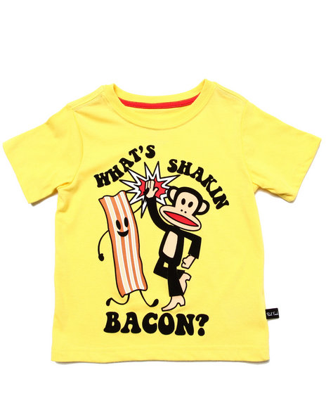 Paul Frank - Girls Yellow Shakin' Bacon Tee (2T-4T)
