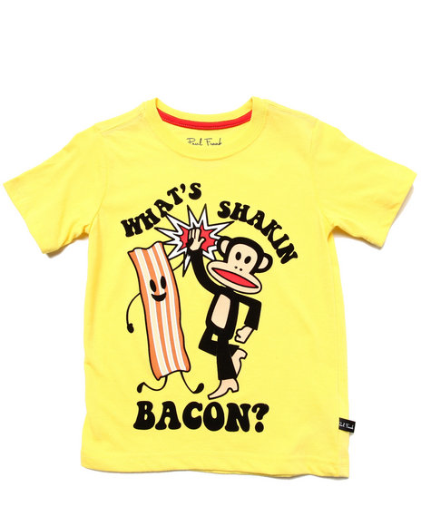 Paul Frank - Girls Yellow Shakin' Bacon Tee (4-7)