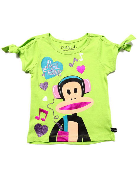 Paul Frank - Girls Lime Green Groovin Tunes Tee (2T-4T)