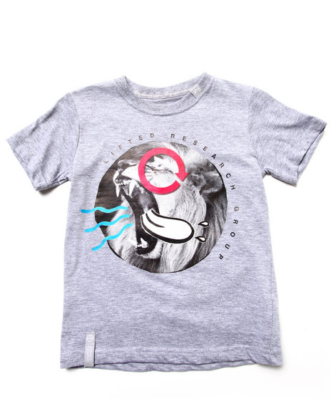 LRG Boys Light Grey Beast Out Tee (4-7)