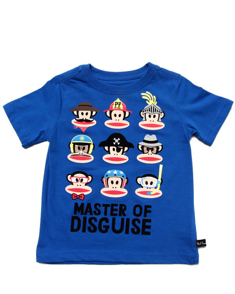 Paul Frank Boys Blue Master Of Disguise Tee (2T-4T)