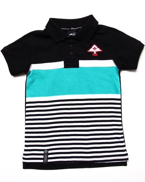 LRG Boys Black Stay Lifted Polo (4-7)