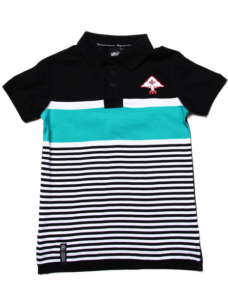 LRG Boys Black Stay Lifted Polo (8-20)