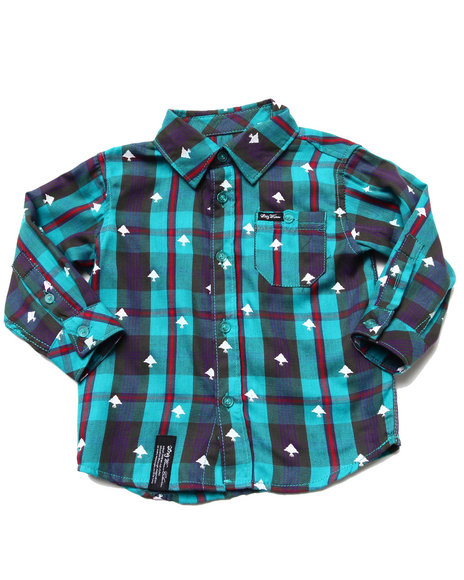 LRG Boys Teal Polk High Woven (Infant)