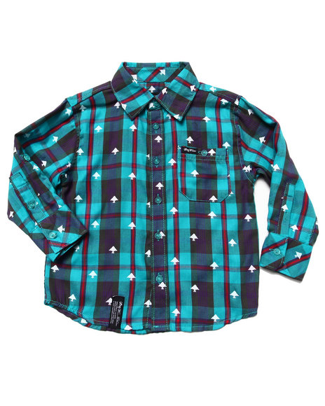 LRG Boys Teal Polk High Woven (2T-4T)
