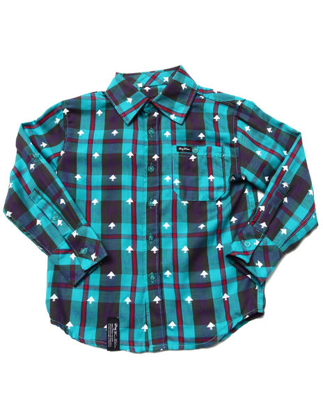 LRG Boys Teal Polk High Woven (4-7)