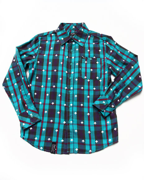 LRG Boys Teal Polk High Woven (8-20)