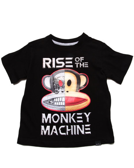 Paul Frank Boys Black Monkey Machine Tee (2T-4T)