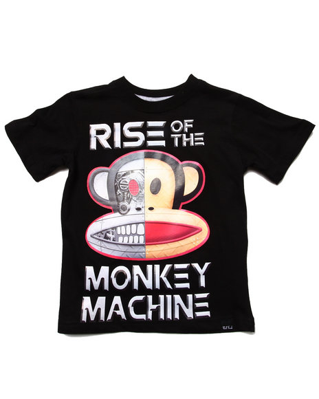 Paul Frank Boys Black Monkey Machine Tee (4-7)