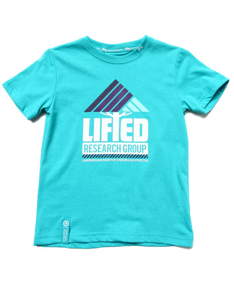 LRG Boys Teal Lifted Research Tee (4-7)