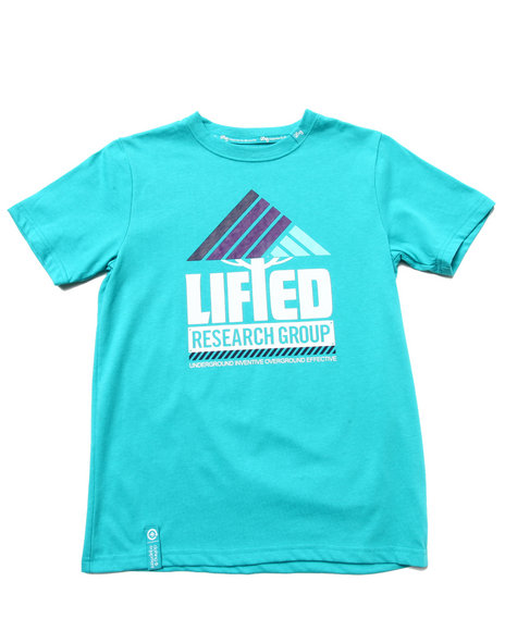 LRG Boys Teal Lifted Research Tee (8-20)