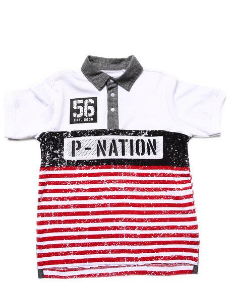 Parish - Boys Red Cut & Sew Polo (8-20)