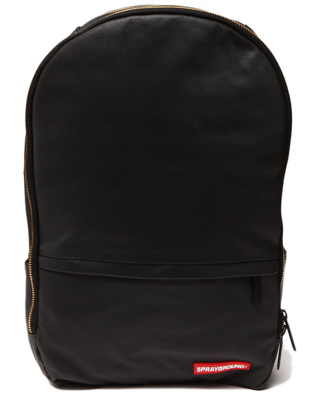 Sprayground Men Black Stashed Jewels Wax Coated Backpack Black