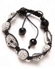 Jewelry & Watches - Crystal Skull Cord Bracelet
