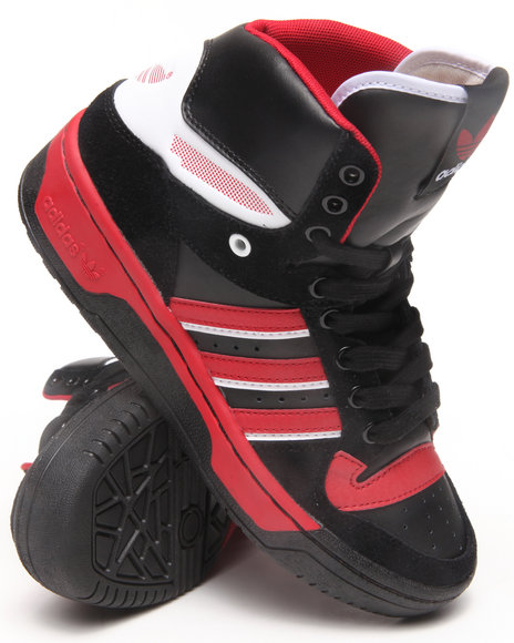 Adidas - Boys Black Attitude Cs Mid J Sneakers (3.5-7)