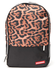 Women - Leopard Print Money Stashed Backpack