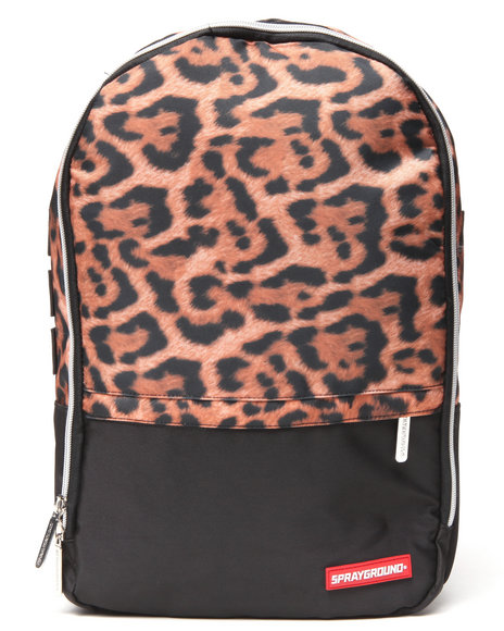 Sprayground Men Leopard Print Money Stashed Backpack Animal Print