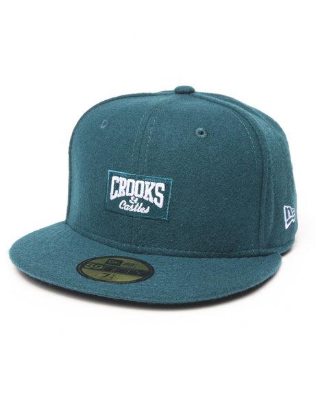 Crooks & Castles - Men Blue Core Logo Fitted Cap