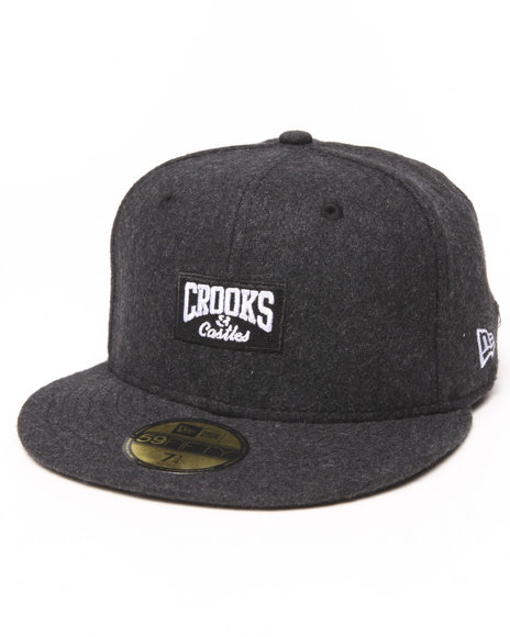 Crooks & Castles - Men Grey Core Logo Fitted Cap