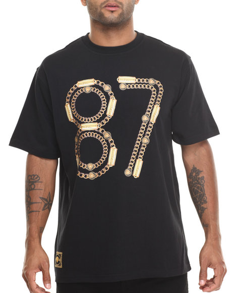Eight 732 - Men Black 87 T-Shirt