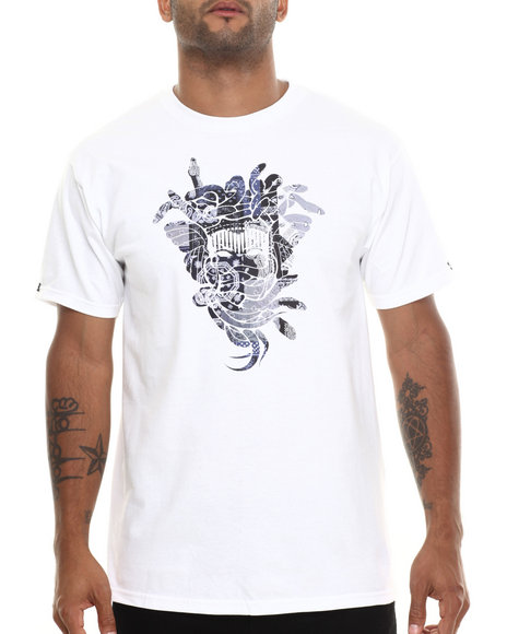 Crooks & Castles - Men White Patchwork T-Shirt - $25.99