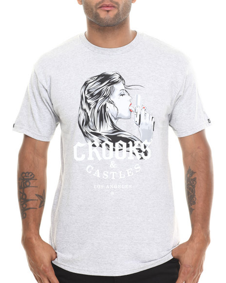 Crooks & Castles - Men Grey Pistola T-Shirt