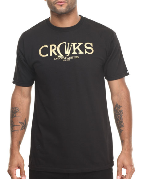 Crooks & Castles - Men Black Gleamin T-Shirt