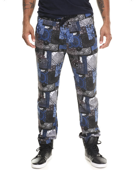 Crooks & Castles Black,Blue Lux Bandit Sweatpants