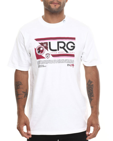 Lrg - Men White Retro Revival S/S Tee - $28.00