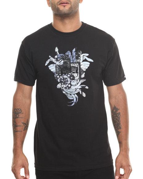 Crooks & Castles - Men Black Patchwork T-Shirt - $18.99