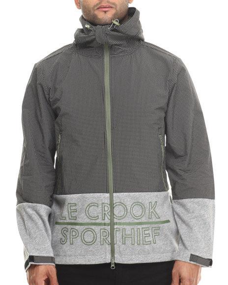 Crooks & Castles - Men Black Sporthief Anorak Jacket