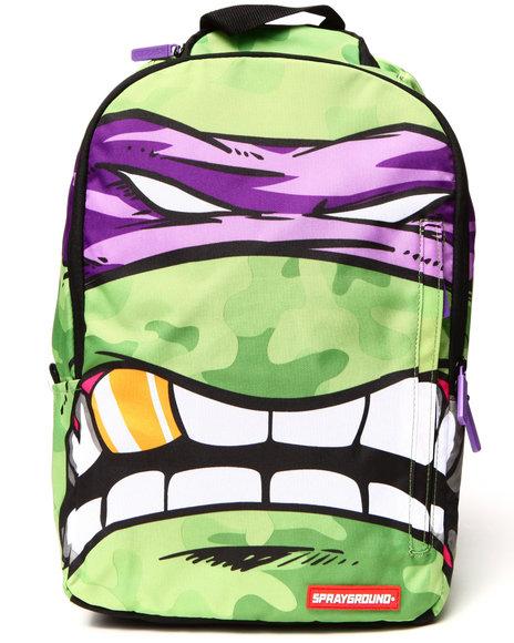 Sprayground Teenage Mutant Ninja Turtles Purple Donatello Backpack Green