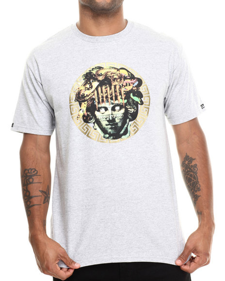 Crooks & Castles - Men Grey Vices T-Shirt - $28.99